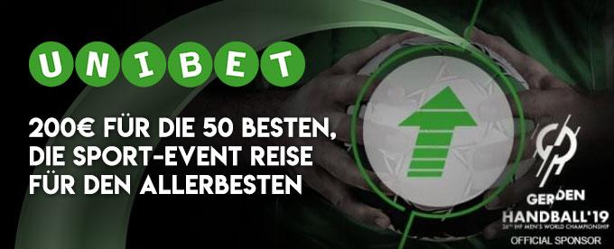 Unibet 10.000€ Handball WM Aktion