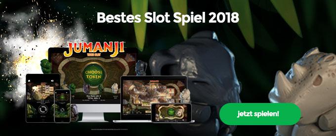 Jumanji bestes Slot von 2018
