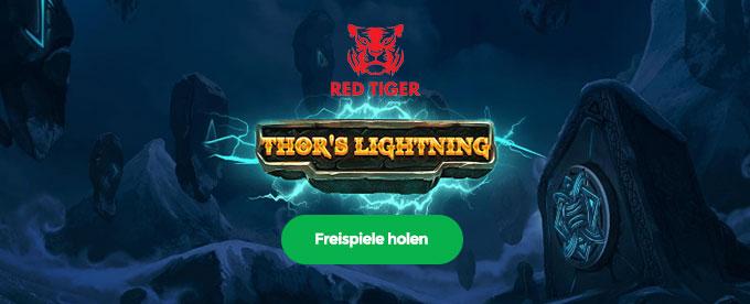 Thor's Blitze sorgen für Freispiele