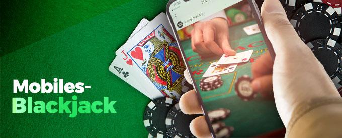 Blackjack auf dem Handy spielen