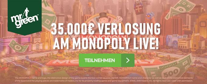 Monopoly Live Verlosung im Mr Green