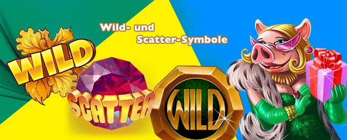 Wild- und Scatter-Symbole bei Slots