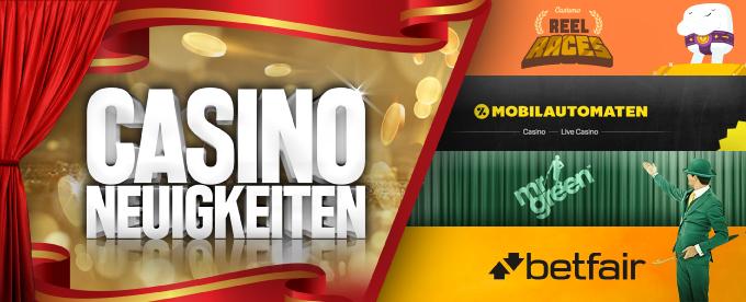 Casino Neuigkeiten 09. Juli 2018