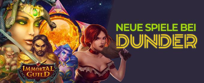 Neue Spiele bei Dunder