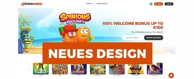 Neues Design immer noch toller Bonus