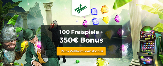 Mr Green Willkommensbonus holen