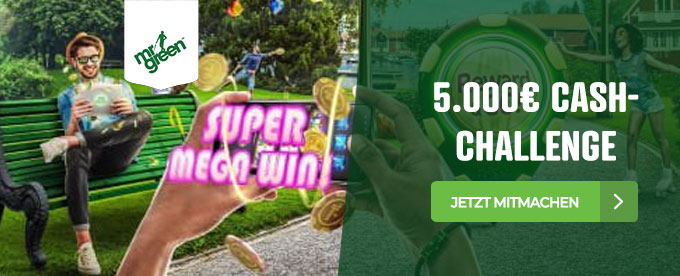 5000€ Aktion im Mr Green