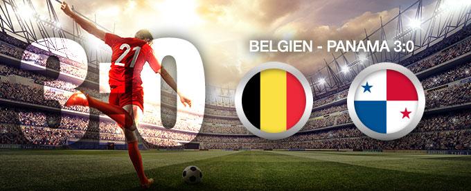Belgien besiegt Panama