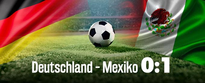 Deutschland verliert gegen Mexiko 0:1