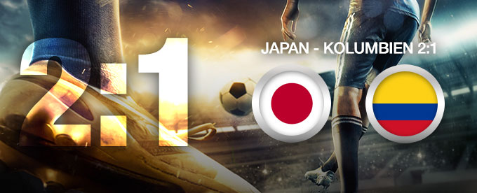 Japan besiegt Kolumbien 2:1
