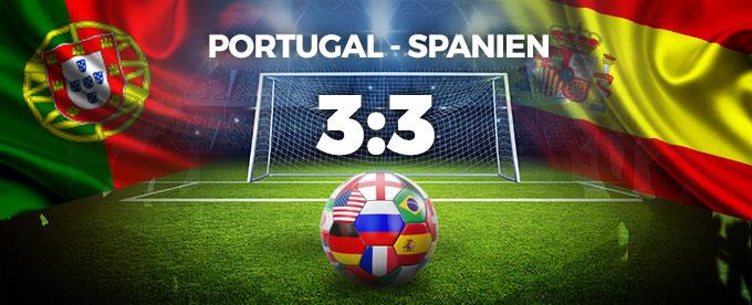 Portugal - Spanien 3:3