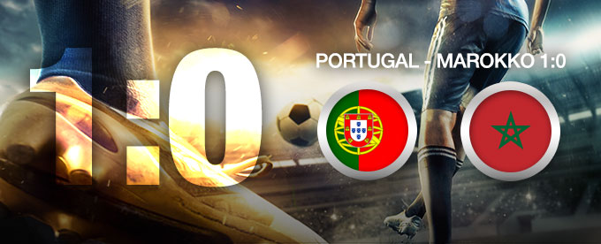 Portugal besiegt Marokko 1:0