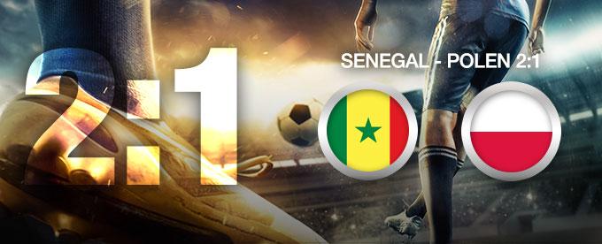 Senegal besiegt Polen 2:1