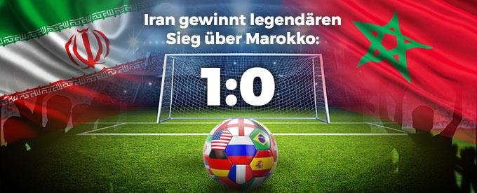 Iran triumphiert über Marokko