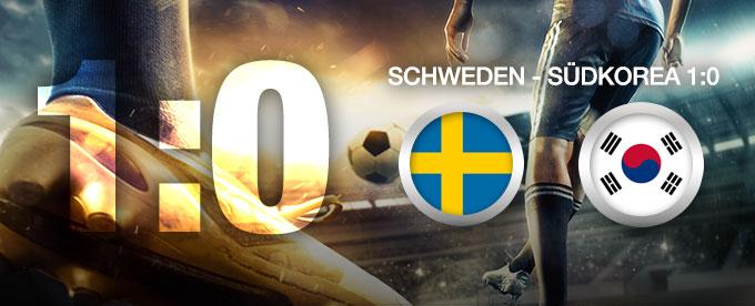 Schweden gewinnt gegen Südkorea 1:0