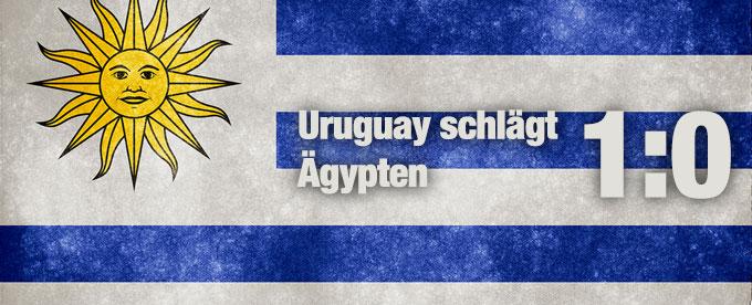 Uruguay besiegt Ägypten 1:0