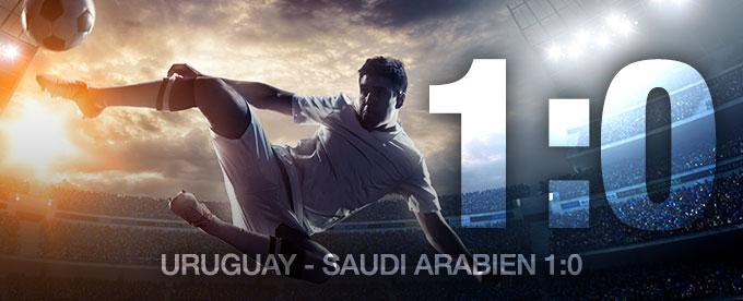 Uruguay besiegt Saudi Arabien 1:0
