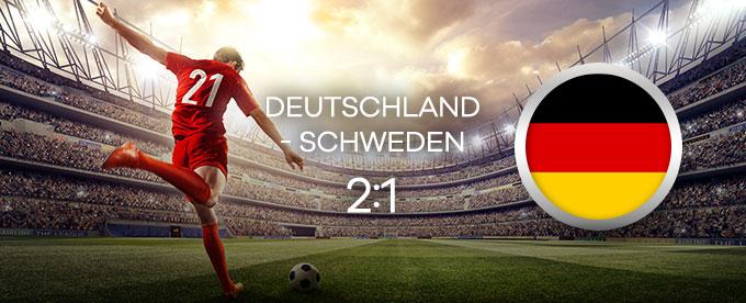 Deutschland besiegt Schweden 2:1