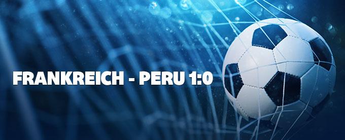 Frankreich siegt gegen Peru 1:0
